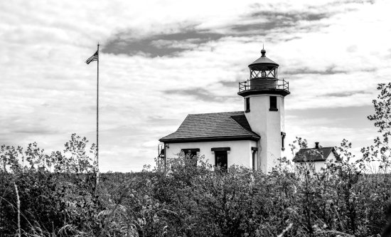 Vashon, WA: The lighthouse at Point Robinson Park
