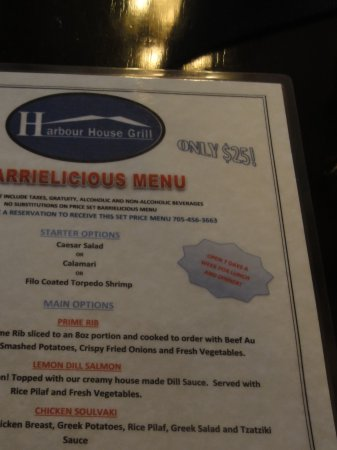 Innisfil, Canadá: Barrielicious menu, great value for $25