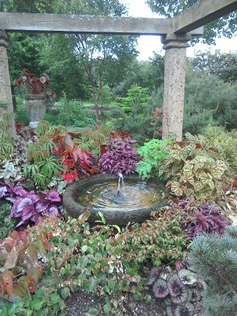 Ancient pillars and vibrant planting. - Picture of Ashwood Nurseries ...