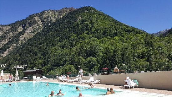 piscina esterna delle Terme di Vinadio, favolosa!!!!! Acqua calda ...