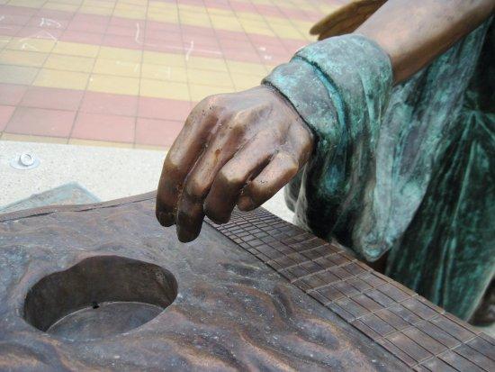 Murska Sobota, Slovenya: Erato, detail of her hand