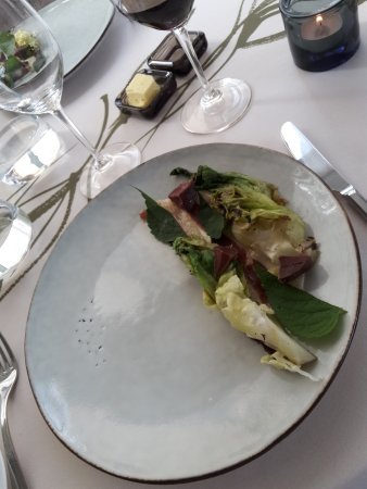 C: Ilmakuivattua hanhenrintaa, Rekolan salaattia ja kallioimarretta
