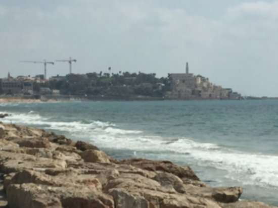 InterContinental David Tel Aviv: View of Jaffa from the park in front of the InterContinental