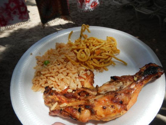 Vieux Fort, St. Lucia: This was the best pieces of chicken - the other 6 could have been used as hockey pucks