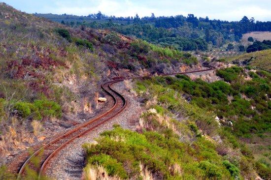 Bot River, Südafrika: Railway line, still in use.
