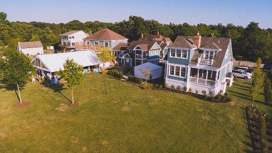 Rock Hall, Μέριλαντ: Aerial of Cottage & Manor House