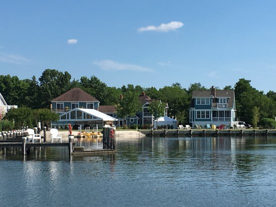 Rock Hall, MD: View of Manor House outdoor wedding/event site from water