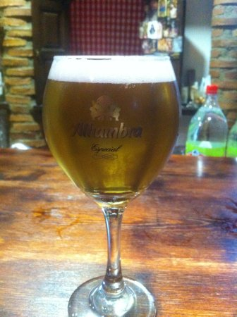 Province of Granada, İspanya: The local beer on tap