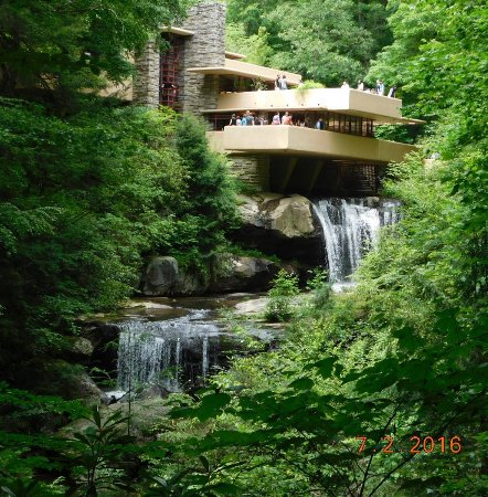 Bear Run At Fallingwater Back Of The House Picture Of