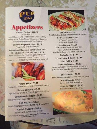 Pelham, Алабама: Appetizer Menu