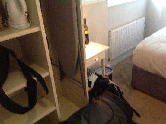 The Martello Hotel : Total depth of room, armoire is snug to the door