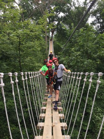 Elizabeth, IL: The guides were fantastic! Two of us had never zip lined before. Our guides were patient and hel
