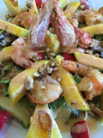 """Torres Novas, Portugal: Salada de camarão """"à Papa-Figos"""""""