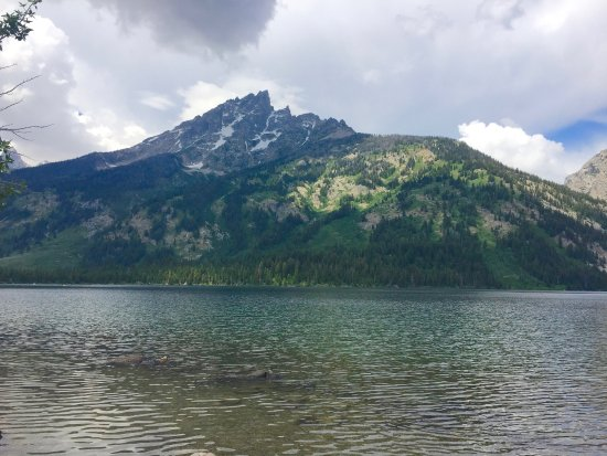 Jenny Lake: View west toward glacial canyon