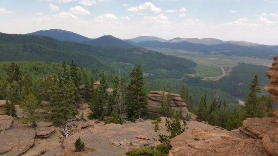Divide, CO: View from Pancake Rocks