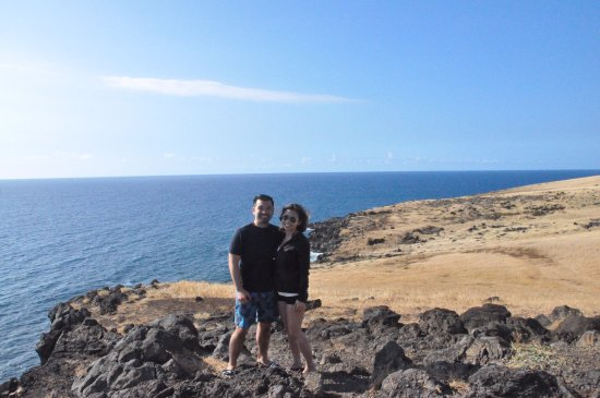 Makawao, HI: The hubs and I at one of many amazing lookouts.