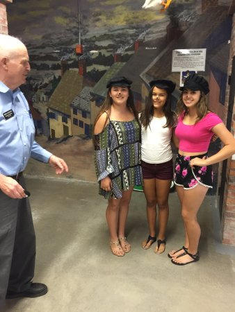 Pocatello, ID: Don Aslett instructing the girls about chimney sweeps