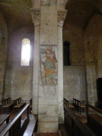Abbazia di Sant'Antimo: Affresco du pilastro