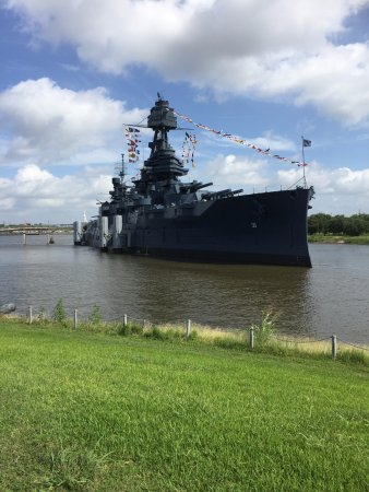 La Porte, TX: Battleship Texas has her own berth located along the Houston Ship Channel.