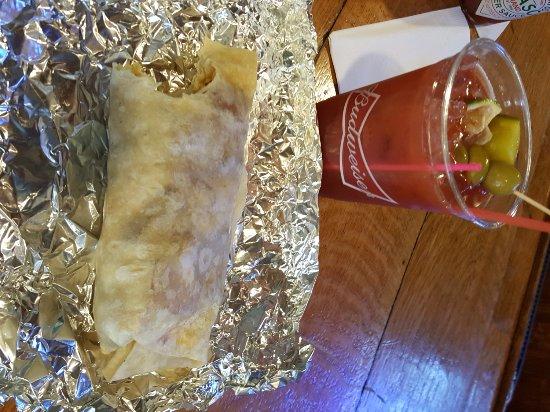 Romeros : burrito and bloody mary