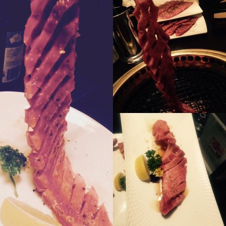 Stonnington, Australia: Japanese cutting skills brining you this thick Ox tongue steak,super tender and juicy!!!