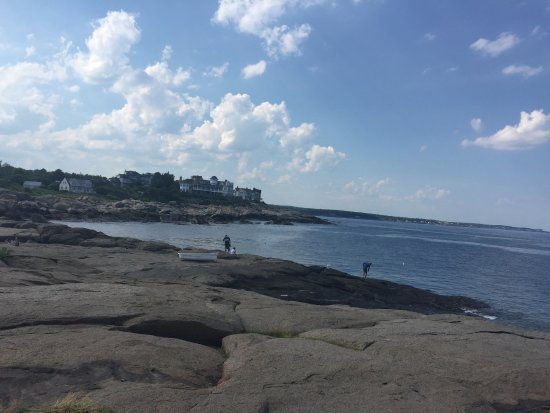 York, ME: The view of Maine to the left of the lighthouse.