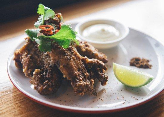 Thornbury, Australia: Crispy szechuan chicken ribs with yuzu mayo.
