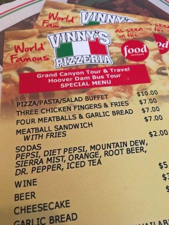 Vinny's Pizzeria: menu