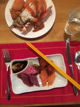 Heat, Edsa Shangri-la: Sushi appetizer choices