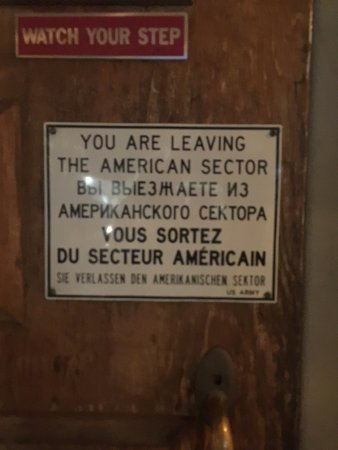 Walzwerk: The very famous Checkpoint Charlie sign