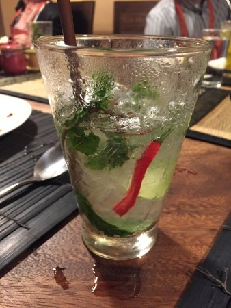Maret, Thailand: Cucumber Gin and Tonic with chili