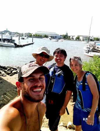 Kayak Annapolis LLC: Max taking a selfie during the mid-tour break for drinks and snacks.