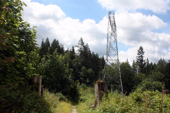 Mission, Canada: The power lines - remember this is BC Hydro area