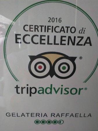 Gelateria Raffaella: Certificato di Eccellenza 2016