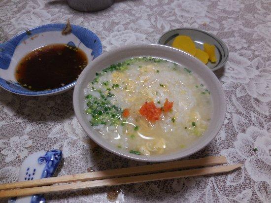 Shunan, Japonia: お決まりの〆の雑炊です