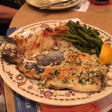 Chicago Brauhaus : Trout with way too much garlic.