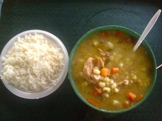 La Garita, Κόστα Ρίκα: Pozol: exquisita sopa de maíz con carne ce cerdo y acompañada de arrocito.