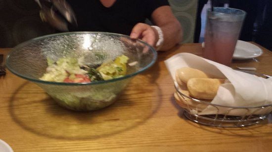 South Burlington, VT: Salad and breadsticks