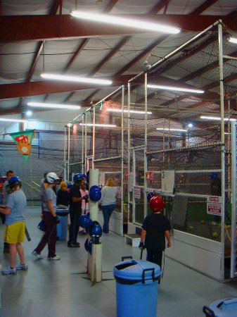 Westville, NJ: Interior with Batting Cages