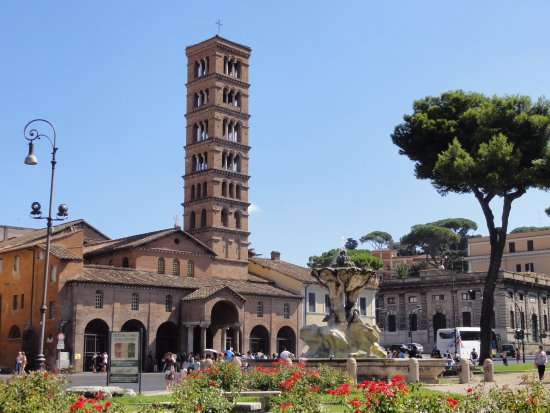 Image result for Basilica of Santa Maria in Cosmedin, Rome.