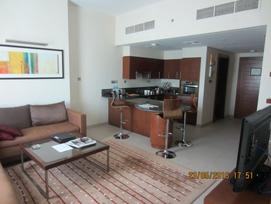 drawing room and modular kitchen picture of grand millennium al
