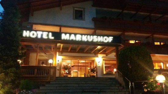 Vista da un balcone del hotel markushof