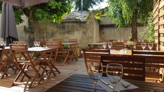 Le San Marco : Nouvelle terrasse en cour intérieur
