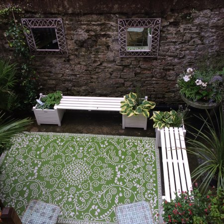 Monmouth, UK: Our sunken Moroccan Garden