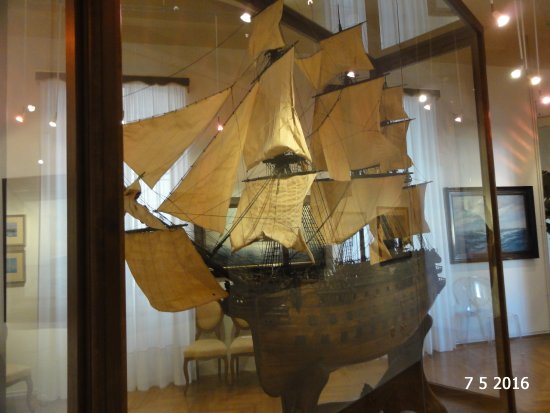 Sergej Masera Maritime Museum (Pomorski muzej): One of the detailed ship models