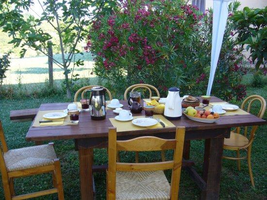 Vejano, Italia: colazione_giardino