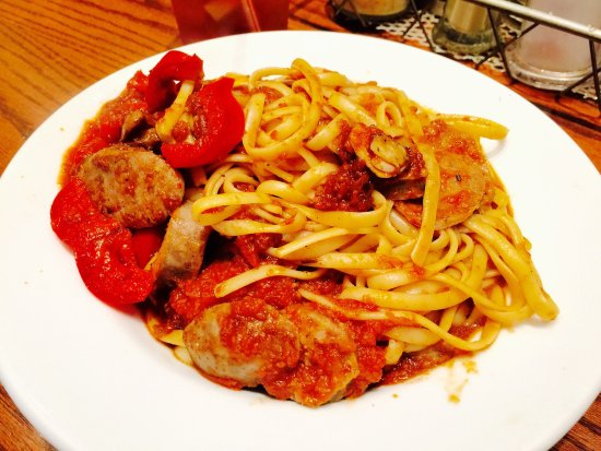 Alhambra, CA: Sausage & [Bell] Peppers Pasta