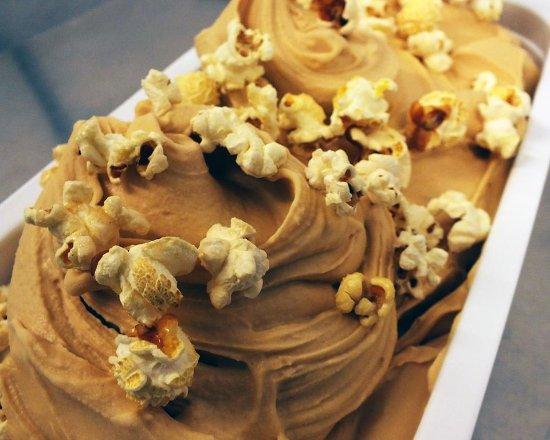 Banff, UK: Salted Caramel Popcorn ice cream