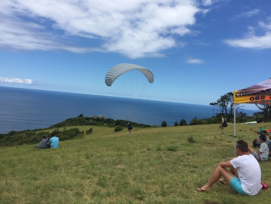 Wilderness, Sydafrika: paragliding launch point opposite the map of Africa view point
