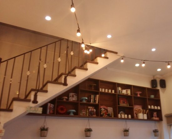 Staircase Wall Decorations Picture Of Teaspoon Cafe Angeles City